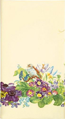 Mitteldecke Frühlingskranz / Frühling / Blumen / Vogel aus Airlaid 80x80cm