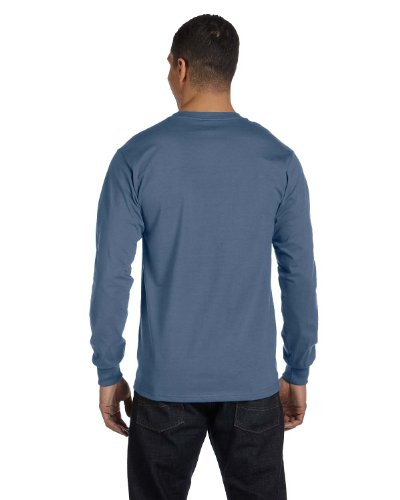 The Elevators auf American Apparel Fine Jersey Shirt Blau - Denim Blue