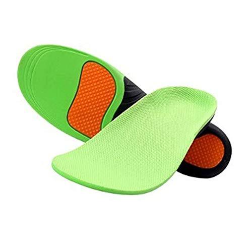 JAK0 Füße Einlegesohle Niedriggewölbte Einlegesohlen Schmerzlindernde Einlegesohlen für Männer Frauen-Für Plantarfasziitis, Laufen, Plattfüße, 1 Paar,L