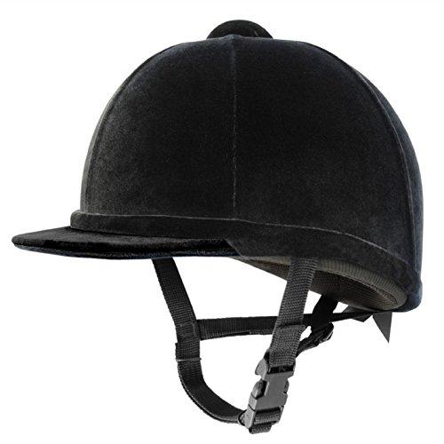 Charles Owen Kinder Young Riders Reithelm Reitsport Schwarz 59cm 7 1/4 (Charles Owen Hat)