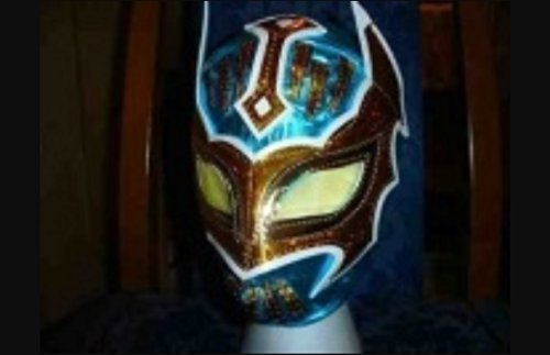 WRESTLING MASK SIN CARA WWE FANCY DRESS UP COSTUME MEXICAN CHILDRENS KIDS CHILD OUTFIT SUIT BRAND NEW BLUE by ASHLEYS (Kids Dress Up Outfits)