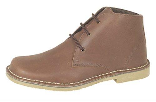 Roamers 3 Occhiello Stivali Desert Boots In Camoscio Or Pelle Waxy Finitura 5 colori. Misure 6- 14 UK Cerate Marrone