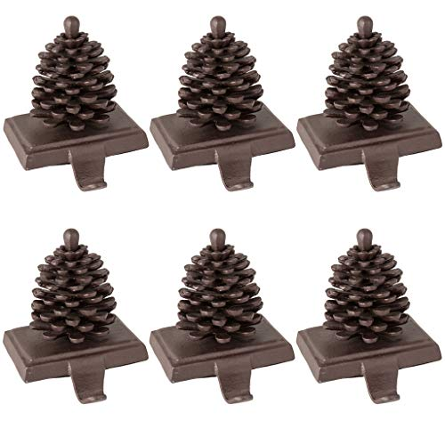 Dibor Gusseisen Weihnachtsstrumpf Halterung Pine Cone -