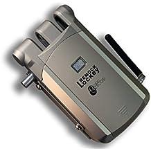 Cerradura de Seguridad Invisible - Remock Lockey con 4 mandos, Dorada (nuevo modelo de mando)