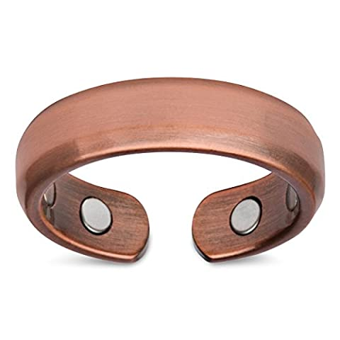 Smarter LifeStyle Elegant Pure Copper Magnetic Therapy Ring Pain Relief For Arthritis And Carpal Tunnel (US Size