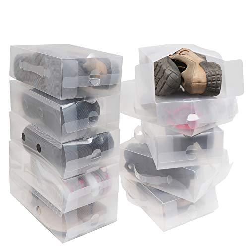 Pack 10 Cajas Guardar Zapatos Plástico Corrugado