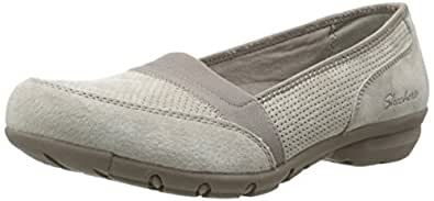 Skechers Women's Career-Perfed Flat Taupe 6 B(M) US