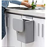 Jolitac Poubelle de cuisine à suspendre avec couvercle pour porte d'armoire, convient pour cuisine, salle de bain, toilettes,
