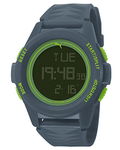 Puma Vertical Unisex Digital Watch with LCD Dial Digital Display and Blue PU Strap PU911161002