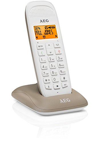 """AEG Voxtel D81 - Schnurloses 1.6\"""" DECT-Telefon mit Freisprecheinrichtung im Mobilteil - Grau"""