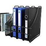 #9: Krupalu Metal Mesh Desk Organizer Shelves for Magazine Holder File Organizer Folder with 4 Vertical Sections?