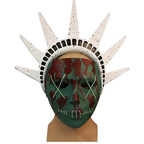 Maske Human Clearance Plan 3 Cos Göttin Spiel um Horror Gesicht Halloween Show Dress up ()