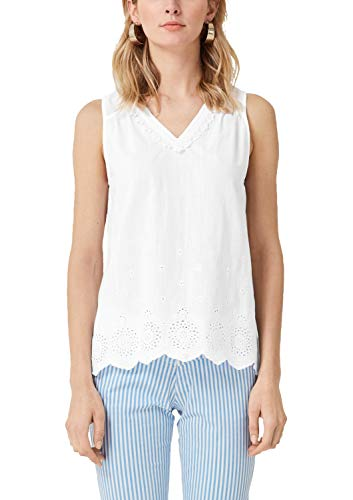 s.Oliver RED Label Damen Blusentop mit Spitze White Embroidery 34