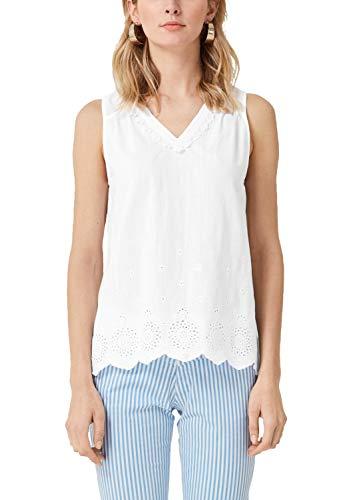 s.Oliver Damen 04.899.13.5320 Bluse, Weiß (White Embroidery 01l5), (Herstellergröße: 40)