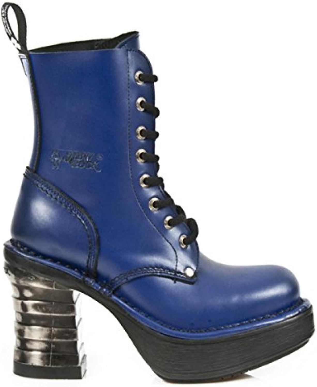New Rock Boots M.8354-C5 Gothic Hardrock Punk Damen Stiefel Blau