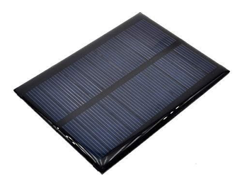 El pequeño panel solar, con tensión nominal de salida de 5V a la max. corriente de salida 100mA.  un pequeño panel de este tipo puede alimentar su proyecto de micro controlador, cargar una batería, conducir una bombilla LED o un pequeño ventilador .....