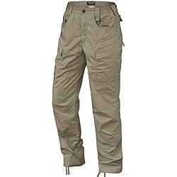 HARD LAND Pantalones Tácticos Impermeables para Hombres Pantalones Ligeros De Carga De Trabajo Ripstop con Cintura Elástica (42W×32L, Caqui)
