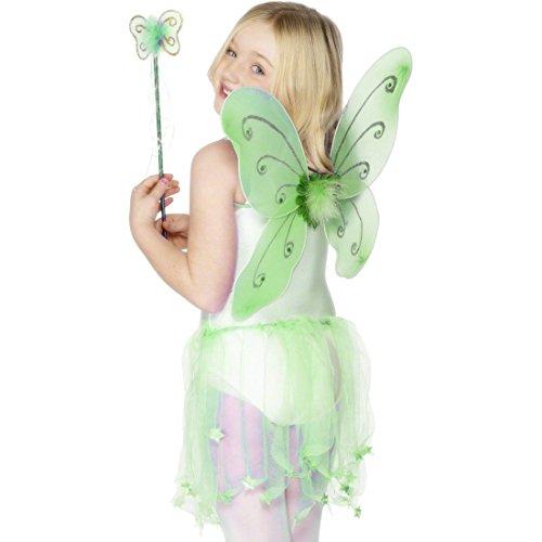 Jahre Kostüm 2 Tinkerbell 3 - NET TOYS Grüne Feenflügel Schmetterlingsflügel grün für Kinder ab 3 Jahre Feen Flügel Elfenflügel Schmetterlingflügel Kostüm Zubehör