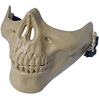 012765Tastschalter Jagd Ski Totenkopf Paintball Planspiel Skelett Maske Schützen Gear, Outdoor CS Kreativ DIY M03Schutz Face Maske Half Face Schädel, 6Farben