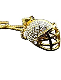 mcsays Hip Hop joyería Rugby casco colgante 60 cm redondo caja cadena colgante creativo de acero