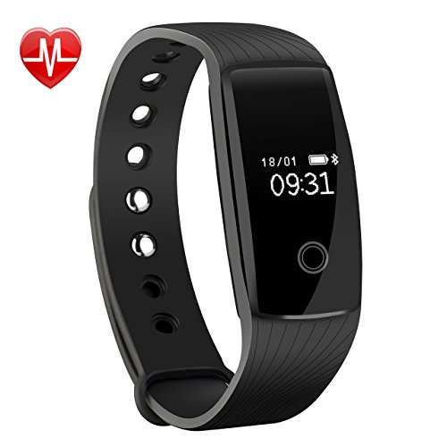 Fitness Tracker, Mpow Heart Rate Monitor Tracker Smart Bracelet Activity Tracker Bluetooth Pedometer with Sleep Monitor Smartwatch for iPhone Samsung & Other Android or iOS Smartphones for Adults Kids Test