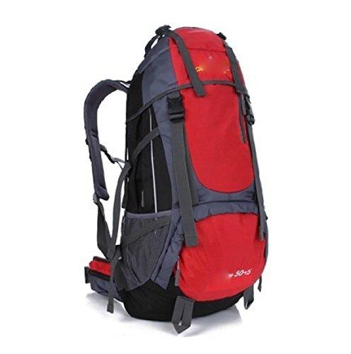 Outdoor Sport Camping Wandern Wasserdichte Rucksack Rucksack Tasche Für Reisen Trekking,Orange Red