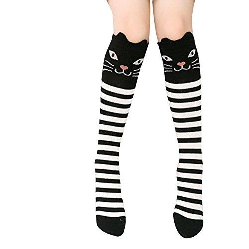 Fletion Kinder Mädchen Kniestrümpfe Knee High Socks Strümpfe Overknee Lange Socken Mit Verschiedenen Tier-Motiven