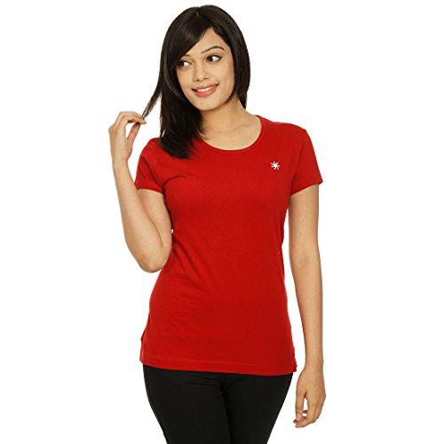 Zeven Essentials Women Round neck T-Shirt, Red