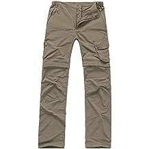 BBYaKi Sra Deportes Al Aire Libre Y De Ocio Pantalones Desmontables Cielo Azul / Verde Del Ejército / De Color Caqui / Rojo De Oro , L