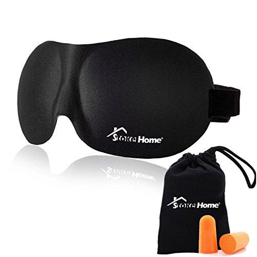 Foto de Antifaz para Dormir Negro Anti-Luz, Máscara de Ojos 3D Fabricado con Espuma de Memoria para Hombre / Mujer / Niño, Suave y Compacta Para Dormir en el Avión, Coche y Tren - Stoke Home