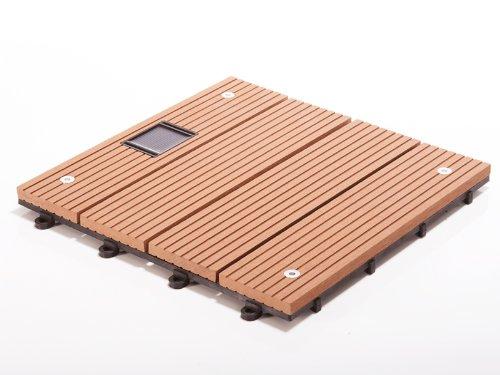 Terrassenfliesen Set Timber LED, braun | Menge wählbar, 1 Stück - 30x30cm