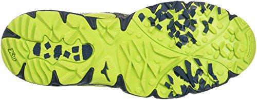 Mizuno Wave Kien, Scarpe da Escursionismo Uomo Multicolore (LimePunch/Silver/MajolicaBlue)