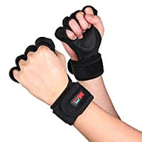 Festnight Weight Lifting Gloves Wrist Wraps Protection Fitness Gloves for Pull Ups Bodybuilding Powerlifting Training Wrist Support for Men and Women
