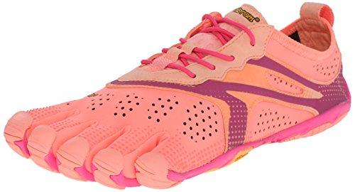 Vibram Five Fingers V-RUN, Scarpe da fitness all'aperto Donna, Multicolore (Pink/red), 39