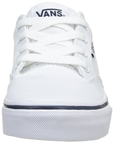 VansWINSTON - Scarpe da Ginnastica Basse Unisex – Bambini Bianco (Blanc (Wht/Nvy))