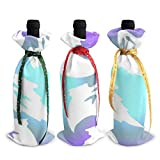 3Pcs Decoration Wine Bottle Covers Bags,Champagne Bags,Halloween Holiday .Table Decor For...