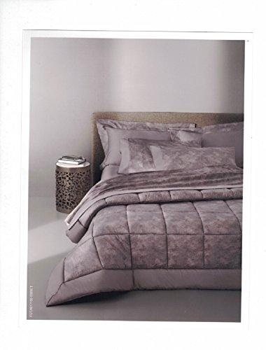 Borbonese trapunta matrimoniale invernale + 2 cuscini d'arredo 40x40 disegno mise made italy