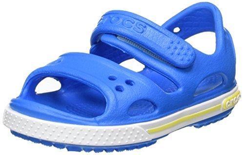 Crocs crocband ii ps, sandali a punta aperta bambino, blu (ocean/tennis ball green), 28/29 eu