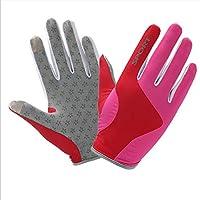 Sunscreen Quick-Drying Full Finger Gloves,Lightweight Fingerless Anti-Slip Gloves,Gym Gloves for Motorbike Hiking Hunting Outdoor Sportsorts gloves(1 pair),Pink,S