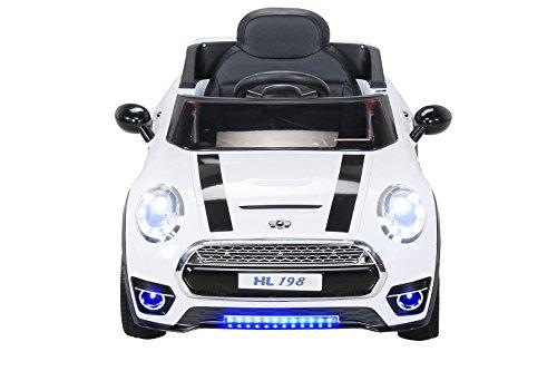 RC Auto kaufen Kinderauto Bild 3: Actionbikes Motors Kinder Elektroauto Mini Cooper Eva Reifen Ledersitz Kinderfahrzeug Kinderauto in vielen Farben (Weiß)*