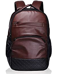 354654ea0614 Montexo Stylish Waterproof Office and School Leather Backpack 18 inch for  Unisex (Brown) Pack
