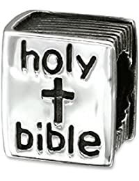 So Chic Joyas - Abalorio Charm La Biblia - Compatible con Pandora, Trollbeads, Chamilia, Biagi - Plata 925