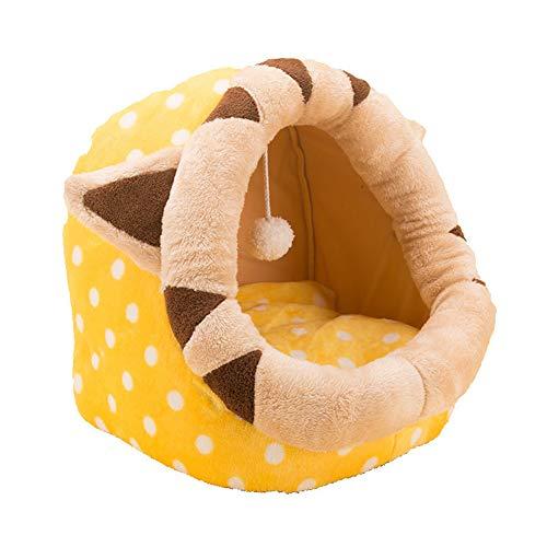 Suave y cálida cama de gato de dibujos animados nido de perro,...