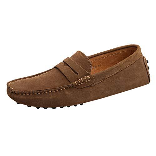e | Echtes Wildleder | Bootsschuhe | Segelschuhe | Comfort Loafers Schuhe | Soft Loafers & Slip-One Wanderschuh Round Toe Shoe ()