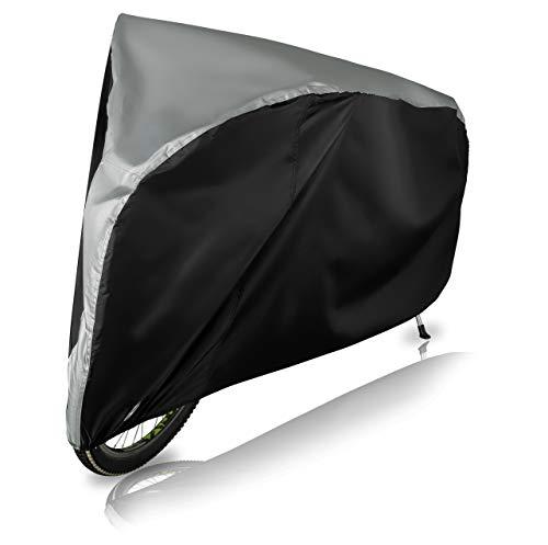 Wasserdichte Fahrradabdeckung (L für normales Erwachsenenrad) Regenschutz für Das Fahrrad mit Gummizug, Sicherheits-Verschluss und Schloss Öffnung – Stabile und reißfeste Fahrradgarage