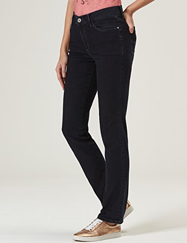 Pioneer Damen Straight Jeans Kate Blau (Blue Black Dark Stone 04)