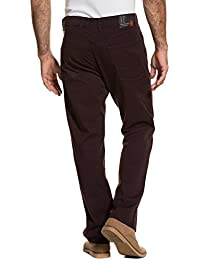 8e57f8a0c4e7 JP 1880 Herren große Größen bis 66   Hose   5-Pocket, Regular Fit   Zipper,  Stretch-Komfort   Aubergine,…