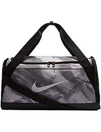 Nike Polyester Men s Brasilla AOP Training Duff Bag (Grey and Black) a3d3366d213c8