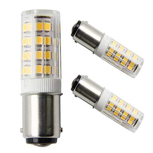 B15d LED-Birne B15D Doppelbajonettsockel 4W 220V 35W Äquivalent Nicht-Dimmbare Warm Weiß 3000K Nähmaschinenlampe (2er Pack) -