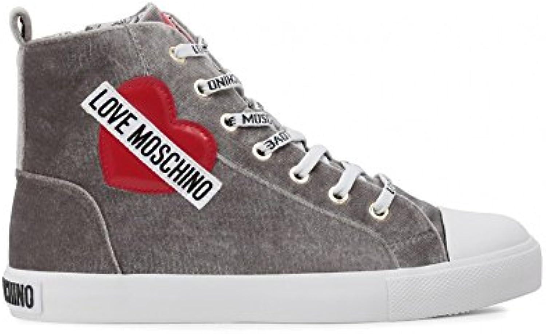 Love Moschino SCA.Nod.gomma30 Velluto, Zapatillas Altas para Mujer